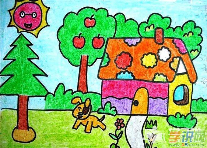 初中生风景画作品图片大全  2.漂亮的风景画学生作品  3.图片