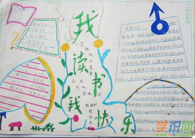 有关于读书学习的手抄报版式设计