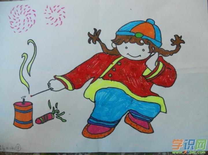 学识网小编整理了小学生新年绘画作品,欢迎阅读!