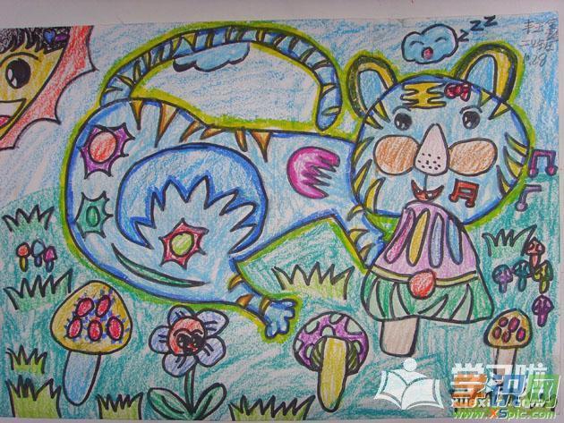 儿童画画大全蜡笔画简单图片