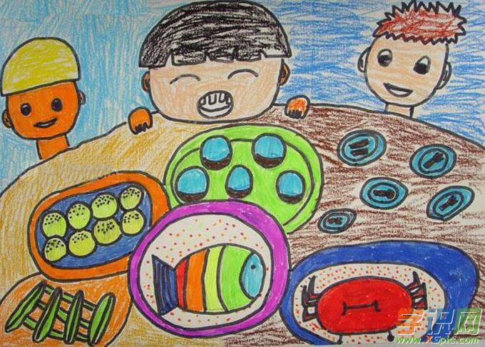 创意儿童画美术作品图片