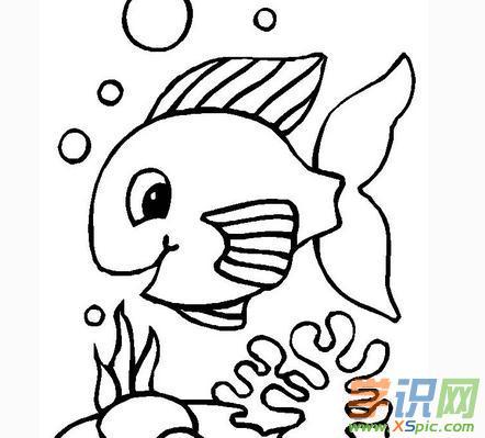 可爱卡通鱼简笔画图片
