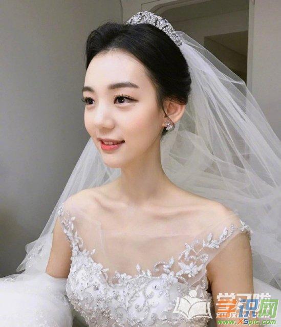 2018年韩式新娘婚纱发型图片图片
