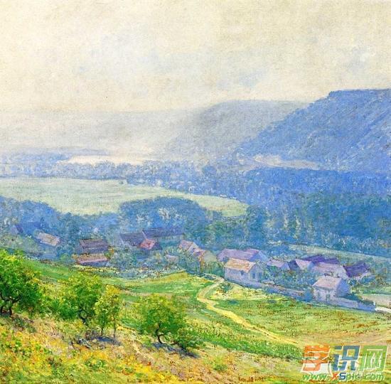国外大师油画风景作品  2.当代著名的油画家作品图片
