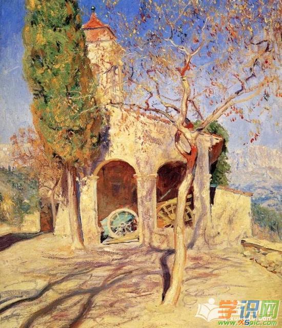 国外大师油画风景作品  2.当代著名的油画家作品图片  3.
