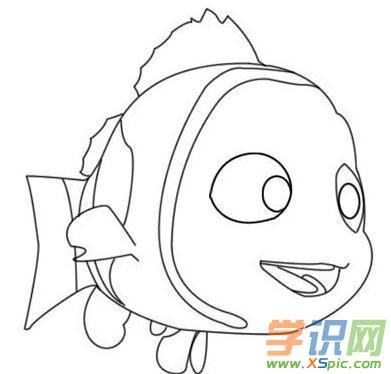卡通小鱼简笔画图片