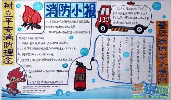 小学安全手抄报参考图(3)