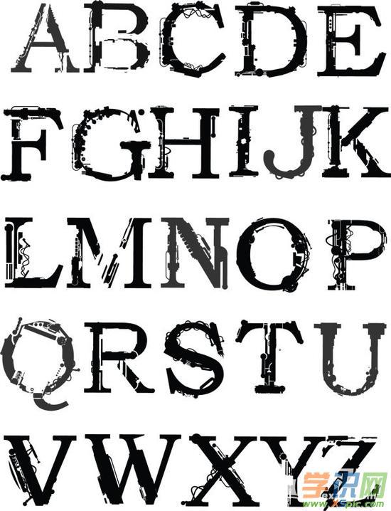 创意英文字体设计作品图片