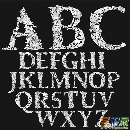 創意英文字體設計作品圖片