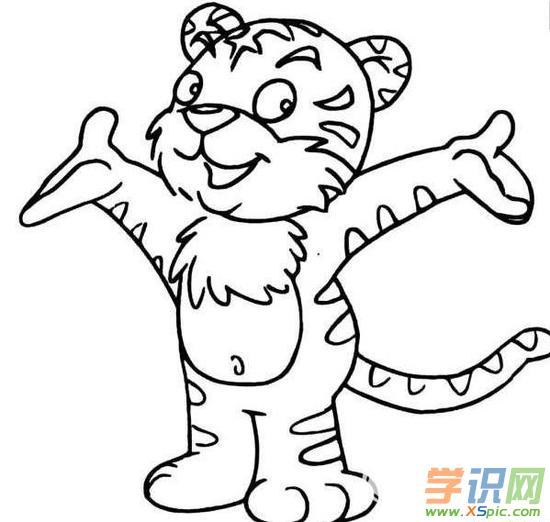 但是在简笔画上有很多人会喜欢老虎,而且老虎的简笔画样子很可爱.