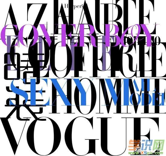 时尚杂志用的英文字体设计图片
