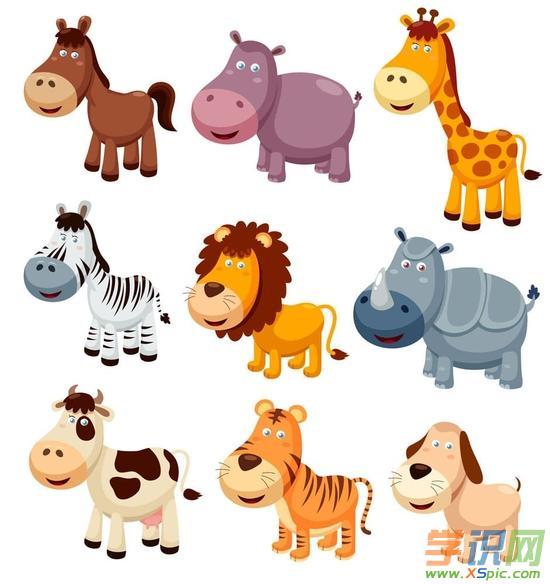 简单动物漫画图片大全可爱  4.卡通动物铅笔画图片大全  5.