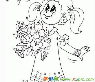 美丽的花朵简笔画图片
