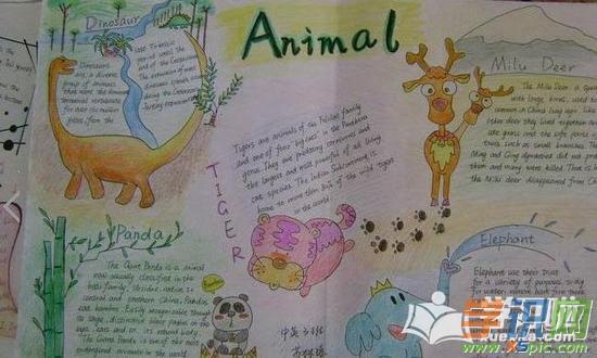 动物园英语手抄报简洁又好看