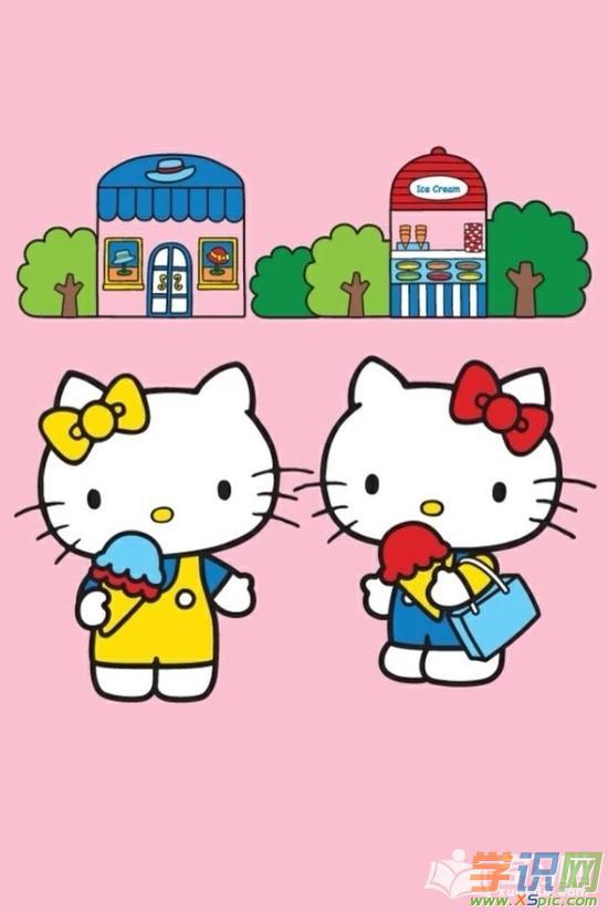 hello kitty猫奶油水果蛋糕制作教程图解  5.kitty猫壁纸高清图片