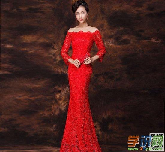 红礼服的设计图片素材大全