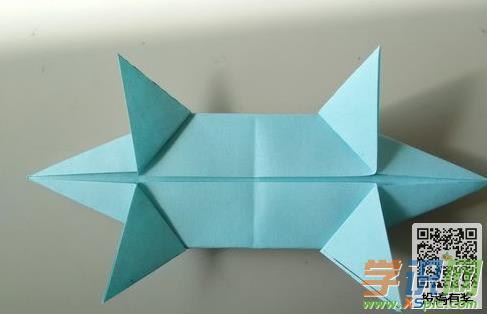 手工折纸鳄鱼的方法步骤图片