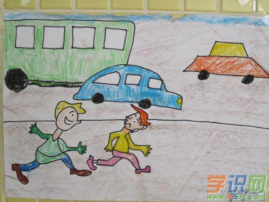 小学生文明交通绘画作品欣赏