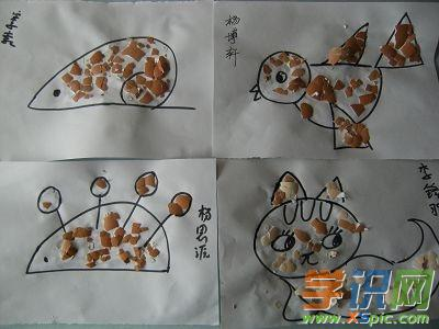 鸡蛋壳手工制作图片画