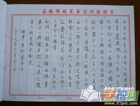 大学生暑假英语周记_兰亭集序行书硬笔书法作品图片