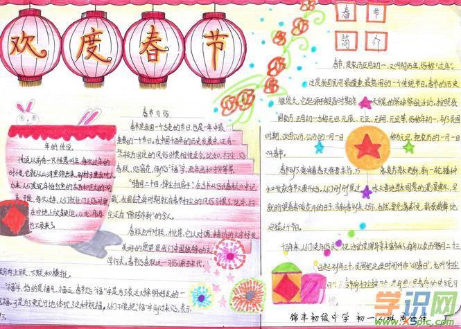 关于简单美观的春节手抄报内容图片