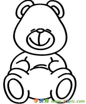 卡通熊的简笔画图片