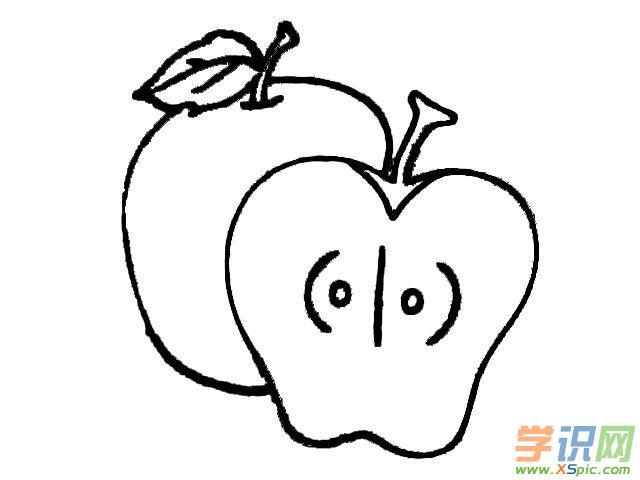 如何画苹果的简笔画