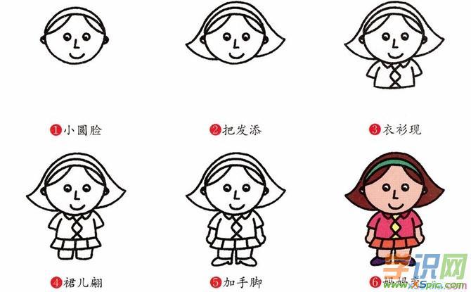简笔妈妈q版人物画法