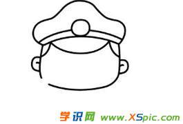警察的画法步骤卡通画绘画教程