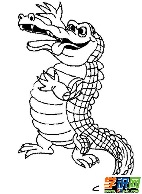 鳄鱼的简笔画步骤  2.简笔画图片大全  3.宠物简笔画图片大全  4.
