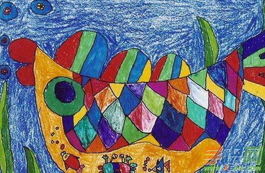 幼儿美丽的鱼的绘画作品有哪些