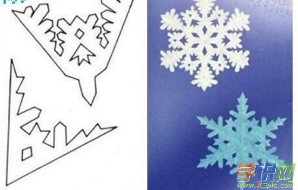 各种雪花剪纸