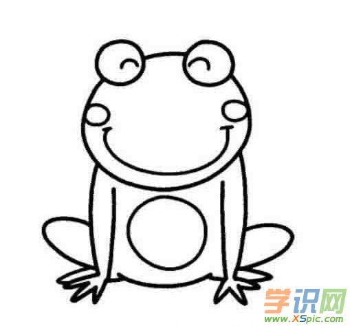 儿童简笔画青蛙的画法