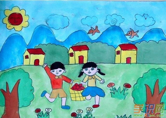 幼儿绘画快乐的六一