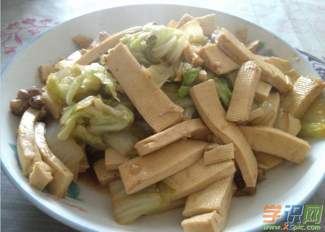 家常白菜炒豆腐的好吃做法