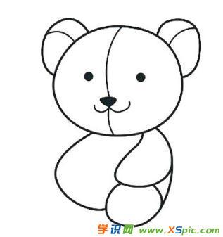 泰迪熊的画法步骤简笔画绘画教程