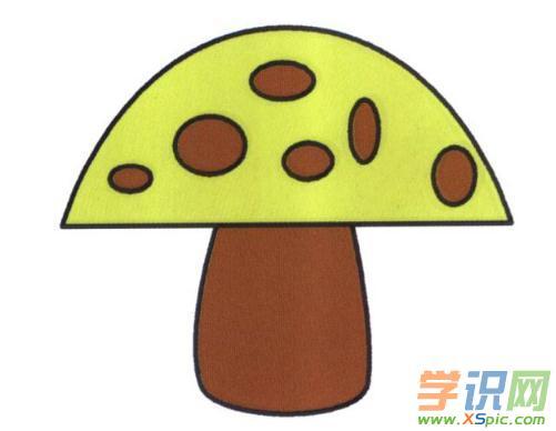 儿童画蘑菇的绘画教程