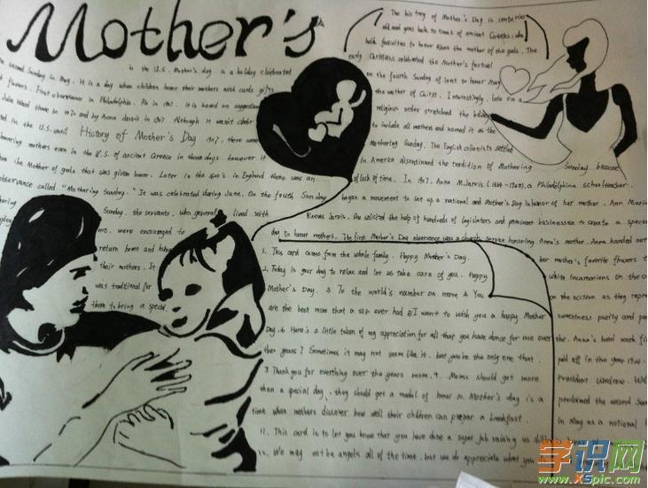 关于母亲节英语手抄报的内容