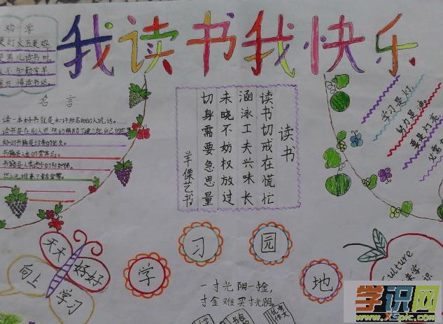小学二年级读书手抄报内容图片