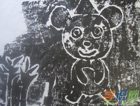 木刻版画图片动物