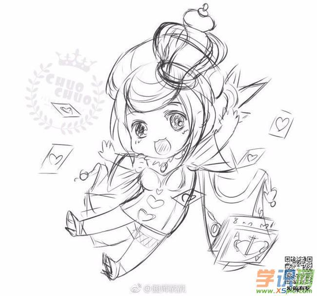 王者荣耀原创绘画教程:红桃皇后芈月