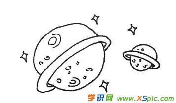 星球的画法步骤简笔画绘画教程