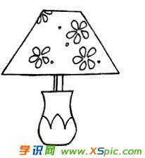 台灯的简笔画绘画图片欣赏