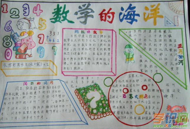 六年级数学圆手抄报图片以及资料
