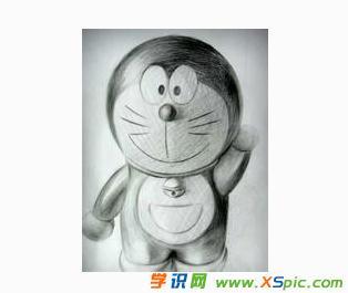 机器猫素描铅笔画图片
