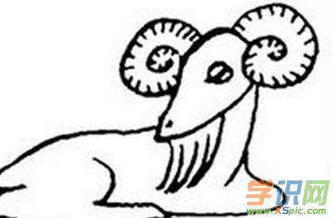 简笔画小羊图片