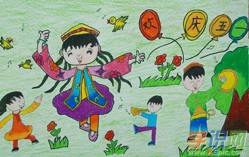小学生劳动绘画作品