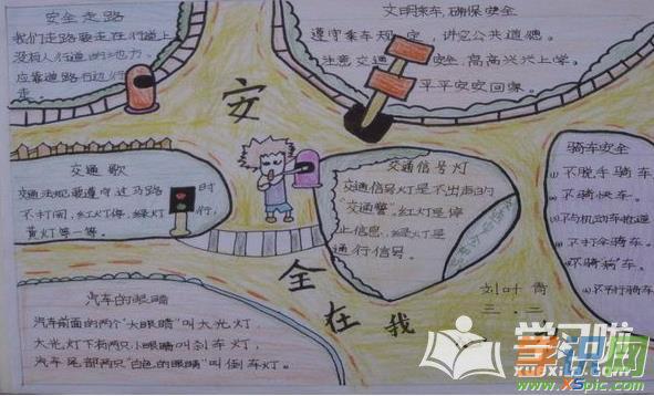 幼儿园安全小故事手抄报图片图片