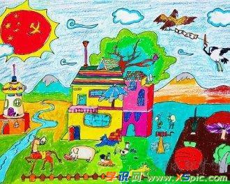 我的祖国绘画作品