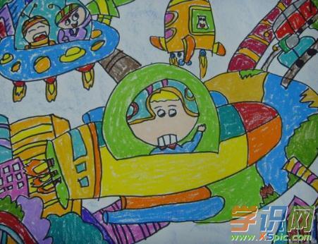探索星球主题绘画作品图片